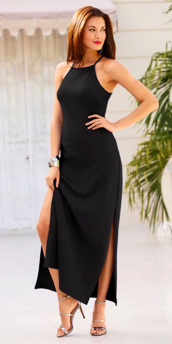 be581a95e56 BEYOND TRAVEL™ HIGH NECK MAXI DRESS in Black – Today s Fashion Item