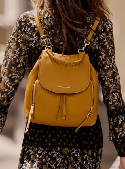 b73413a00eaaa5 MICHAEL KORS Viv Large Leather Backpack – Today's Fashion Item