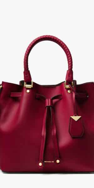 5fb401d18741 MICHAEL KORS Blakely Leather Bucket Bag in Oxblood Red