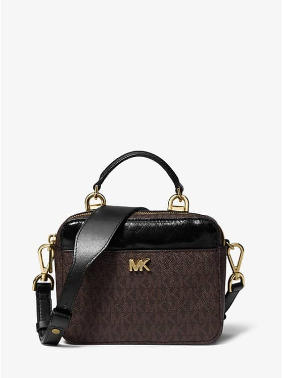 97282a73abd6 MICHAEL KORS Mott Mini Logo and Leather Crossbody – Today's Fashion Item