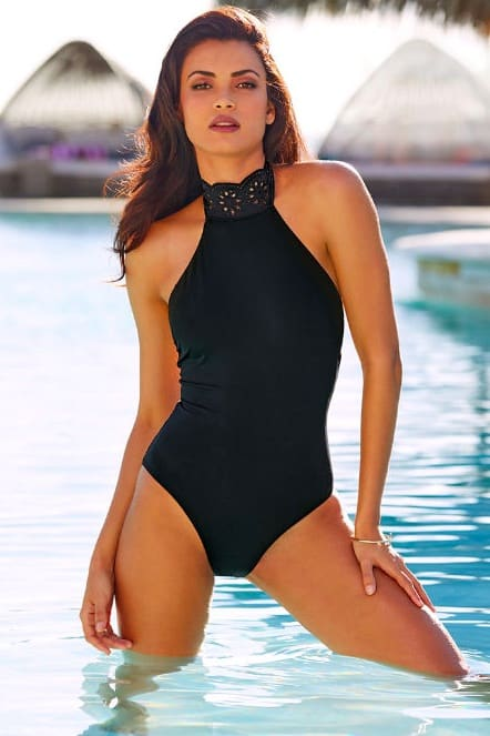 f71850ae64 Eyelet Turtleneck One Piece Swimwear By Avec Les Filles – Today's ...